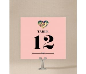Photo Heart Table Numbers