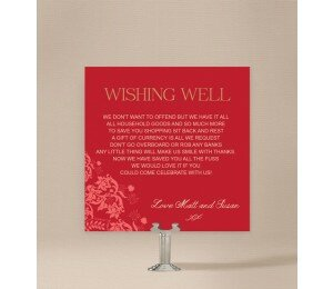 Rustic Lace Wishing Well Card