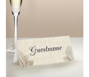 Rustic Wedding Place Card