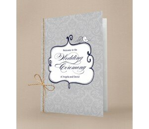 Shabby Vintage Order Of Service Booklet Covers