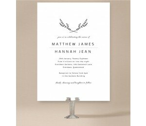 Simple Beauty Wedding Invitations