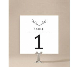 Simple Beauty Table Numbers