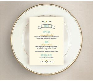 Simple and Sweet Wedding Menu