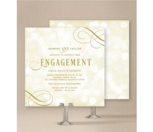 Elegant Engagement Invitations