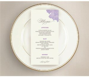 Sweet Floral Wedding Menu