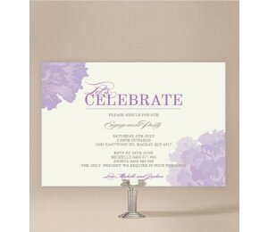 Sweet Floral Engagement Invitations
