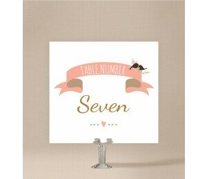 The Lovely Birds Table Numbers