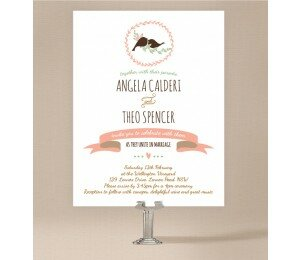 The Lovely Birds Wedding Invitations