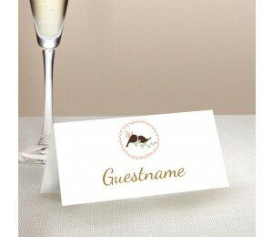The Lovely Birds Wedding Place Card