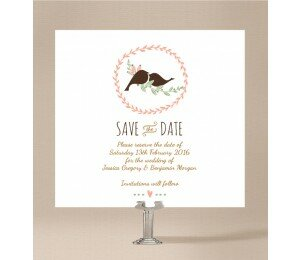 The Lovely Birds Save the Date Cards