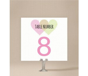 Two Hearts Table Numbers