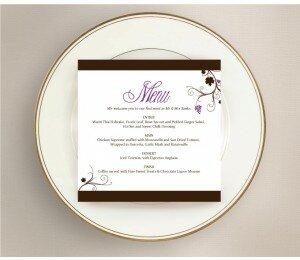 Vineyard Wedding Menu