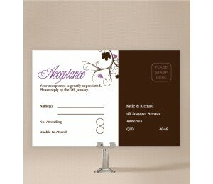 Vineyard Wedding Response Card