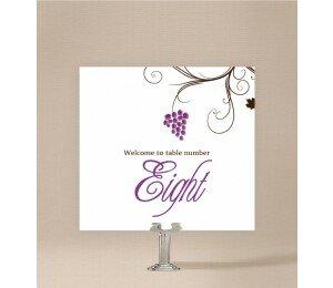 Vineyard Table Numbers