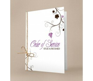 Vineyard Order Of Service Booklet Covers