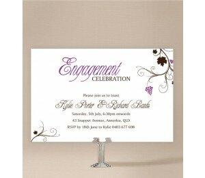 Vineyard Engagement Invitations