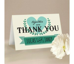 Vintage Banner Thank You Card