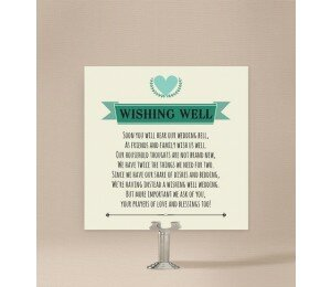 Vintage Banner Wishing Well Card