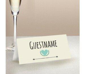 Vintage Banner Wedding Place Card