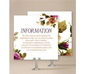 Vintage Floral Information Card