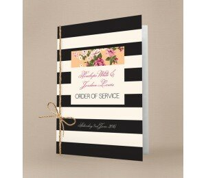 Vintage Stripe Order Of Service Booklet Covers