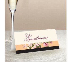 Vintage Stripe Wedding Place Card