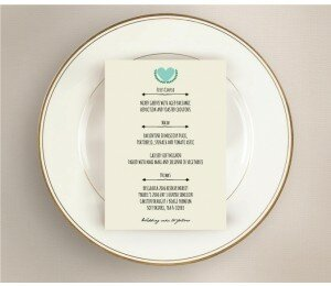 Vintage Banner Wedding Menu