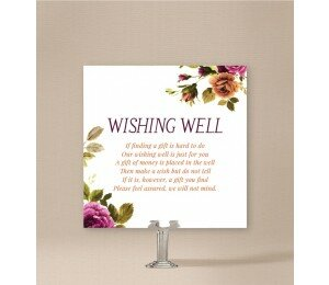 Vintage Floral Wishing Well Card
