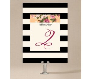 Vintage Stripe Table Numbers