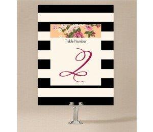 Vintage Stripe Table Numbers