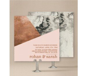 Marbled Modern Wedding Invitations