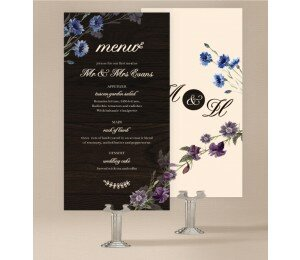 Wood and Flowers Wedding Menu