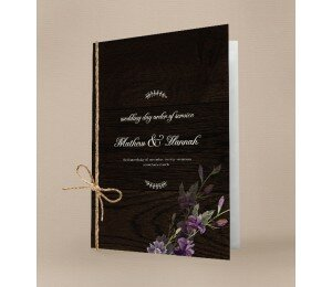 Wood and Flowers Order Of Service Booklet Covers