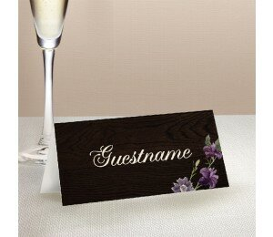 Wood and Flowers Placecards
