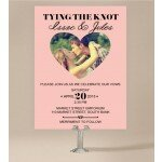 Photo Heart Wedding Invitations