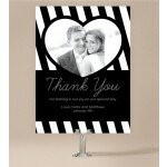 Bold Stripe Wedding Thank You Card