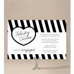 Bold Stripes Engagement Invitations