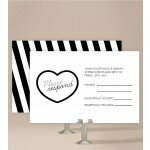 Bold Stripes Wedding Response Card