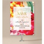 Bright Blooms Save the Date Cards