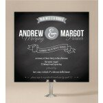 Chalkboard Wedding Invitations