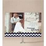 Chevron Wedding Thank You Card