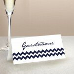 Chevron Wedding Place Card