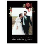 Crimson Wedding Thank You Card