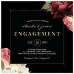 Crimson Engagement Invitations