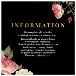 Crimson Wedding Information Card