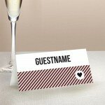 Cute Stripe Wedding Place Card