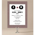 Cute Stripe Wedding Invitations
