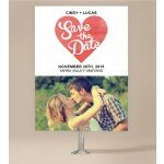 Cutout Heart Save The Date Cards