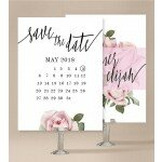 Pink Roses Save The Date Cards