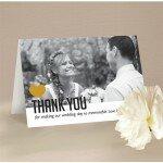 Typo Wedding Thank You Card